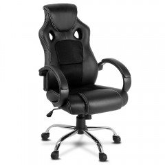 Racing Style Pu Leather Office Chair Black