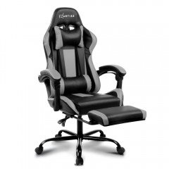 Gaming Office Chair Computer Seating Racer Black And Grey