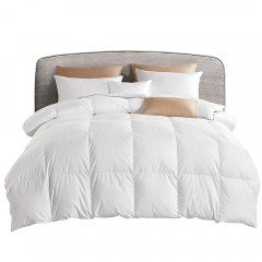 Lightweight Goose Down Feather Quilt Super King White