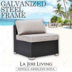 La Joie Outdoor Living Single Armless Modular Sofa Rattan Furniture Lounge