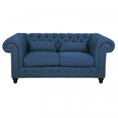 Cameron Chesterfield Upholstered 2 Seater Sofa with Arm Lounge