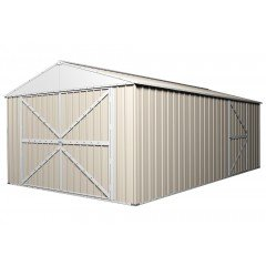 Garage Workshop 6m x 3.5m x 2.3m Cream