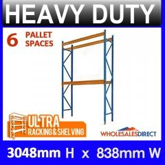 Pallet Racking System 3048mm High 6 Pallet Spaces