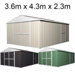 Garden Shed 3.6m x 4.3m x 2.3m Workshop (Extra High)