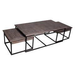 Detroit Industrial Nesting Coffee Table Set of 3