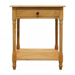 French Provincial Country Bedside Lamp Table Nightstand in Natural