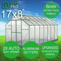 EcoPro 6mm Greenhouse 17 x 8ft
