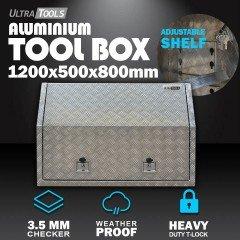 Aluminium Ute ToolBox2.5mm 1200x500x800mm Full Side Opening Vehicle Storage