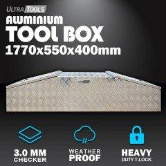 Aluminium Ute ToolBox2.0mm 1770x550x400mm Gullwing Style Vehicle Storage
