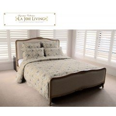French Furniture Provincial Bed Frame in Natural Oak Queen Size