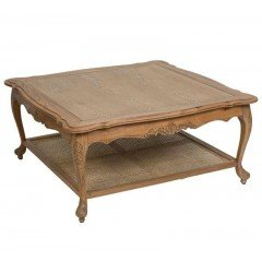 French Provincial Furniture Square Coffee & Tea Table in Natural
