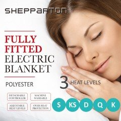Electric Blanket Heated Underlay Polyester Fully Fitted Single, Double, King Single, Queen, King - Shepparton