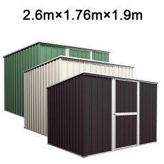 Garden Shed 2.6m x 1.76m x 1.9m Budget Tools Storage