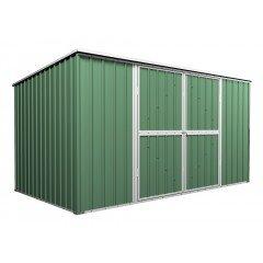 Garden Shed 3.5m x 1.7m x 1.9m Flat Roof Rivergum Green