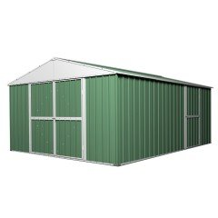 [CLEARANCE] Garden Shed 3.5m x 4.35m x 2.1m - Rivergum Green